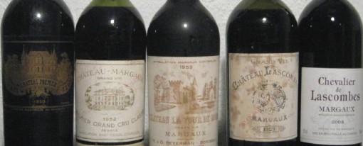 Liste des vins classés de Bordeaux (1855 – Medoc Rouges)